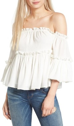Women's J.o.a. Ruffle Off The Shoulder Top $69 thestylecure.com