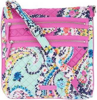 Vera Bradley Iconic Signature Triple Zip Hipster Bag