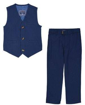 Andy & Evan Little Boy's Two-Piece Seersucker Vest and Suit Pants Set