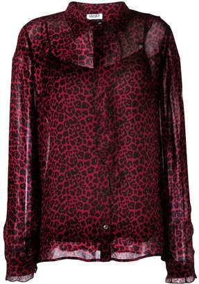Liu Jo leopard print blouse
