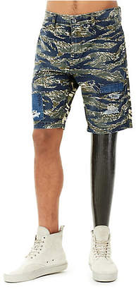 True Religion MENS MIXED CAMO LOGAN SLIM SHORT