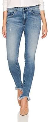 Aster HALE Women's Aisha Stunner Mid Rise Skinny Jean with Broken Hem