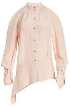 Roland Mouret Haynes Asymmetrical Silk Crepe Top