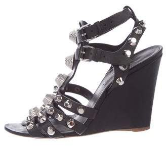 Balenciaga Embellished Wedge Sandals