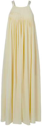 Tibi Arielle Silk Overall Pleated Dress