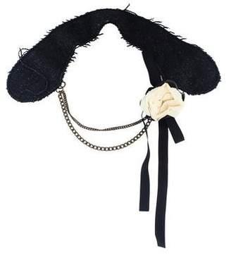 Marni Horn & Fabric Collar Necklace