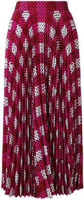 Mary Katrantzou geometric print pleated skirt