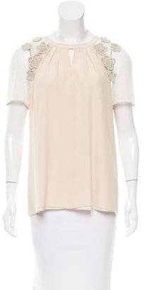 Alice by Temperley Silk Embroidered Top $85 thestylecure.com