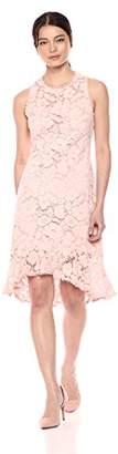 Vince Camuto Women's Lace Bodycon Ruffle Hem Dress