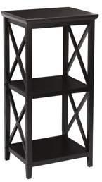 RiverRidge Kids RiverRidge X- Frame Bath Collection - 3-Shelf Storage Tower - Espresso