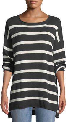 Eileen Fisher Organic Peruvian Cotton Striped Sweater