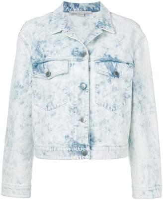 Stella McCartney acid-wash denim jacket