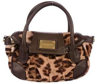 Dolce & Gabbana Leather-Trimmed Ponyhair Satchel