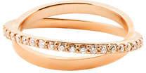 Lana Diamond Twist Ring in 14K Rose Gold