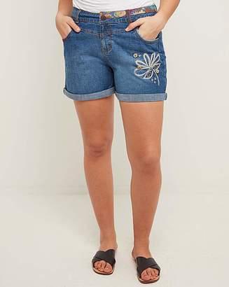 Joe Browns Embroidered Denim Shorts