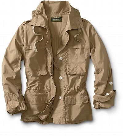 Cotton Roll-Sleeve Anorak