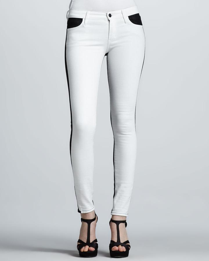 Koral Two-Tone Colorblock Skinny Jeans