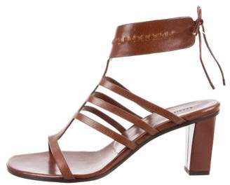 Carritz Leather Caged Sandals w/ Tags