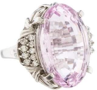 Ring Platinum Kunzite & Diamond
