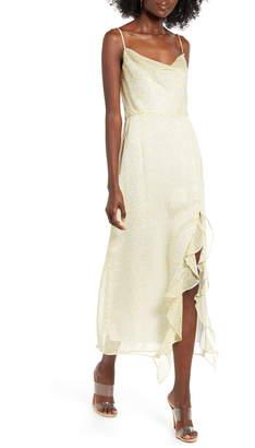 4SI3NNA the Label Farah Cowl Neck Chiffon Maxi Dress