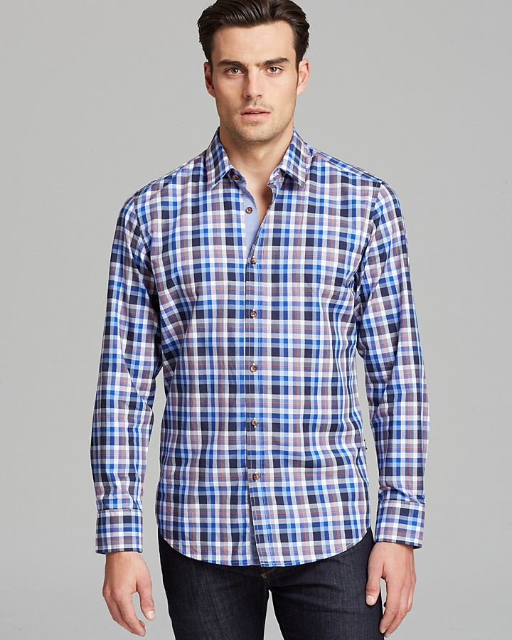 HUGO BOSS Lucas Check Sport Shirt - Classic Fit