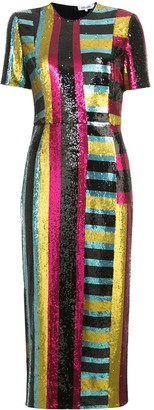 Diane von Furstenberg Short-sleeve sequin dress