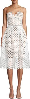Occasion By Dex Circle Lace Fit--Flare Dress