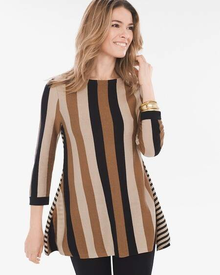 Mixed-Stripe Tunic