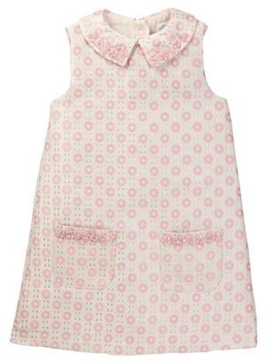 Rockin' Baby Pink Beaded Collar Dress (Toddler, Little Girls, & Big Girls) $50.40 thestylecure.com