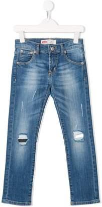 Levi's Kids distressed skinny jeans
