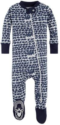 Burt's Bees Clustered Star Organic Baby Zip Up Footed Pajamas