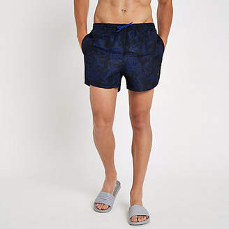 River Island Only and Sons blue floral swim trunks