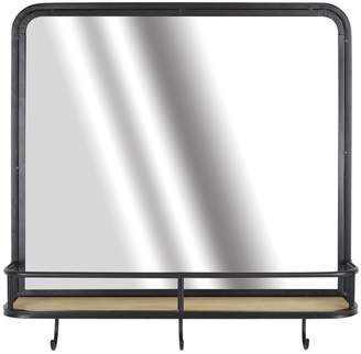 Belle Maison 3-Hook Mirror Shelf Wall Decor