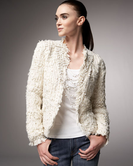 Indikka Tweed Fringe Jacket