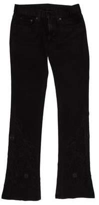 Ralph Lauren Black Label Low-Rise Straight-Leg Jeans