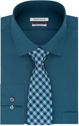 Van Heusen Big & Tall Flex Collar Dress Shirt & Tie