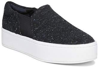 Vince Women's Warren Round Toe Slip-On Tweed Platform Sneakers