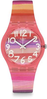 Swatch Astilbe Plastic Strap Watch