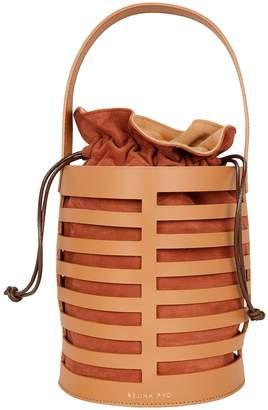 Rejina Pyo Erin Brown Leather Cutout Bag