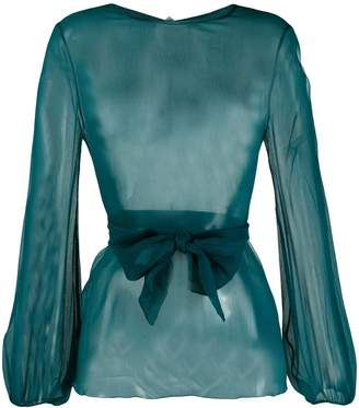Gianluca Capannolo sheer long-sleeved blouse