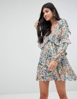 Raga Monique Ditsy Floral Print Mini Dress
