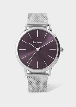 Paul Smith Special Edition 38mm Violet And Stainless Steel 'Ma' Watch