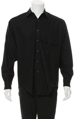 Umit Benan Woven Button-Up Shirt