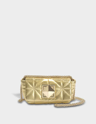 Sonia Rykiel Le Copain Mini Bag in Gold Quilted Nappa Leather
