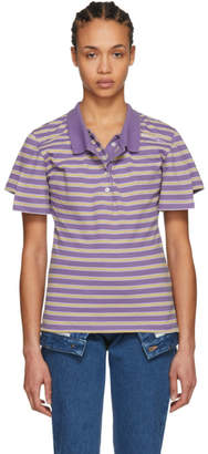 Y/Project Purple Striped Double Polo