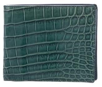Bottega Veneta Crocodile Bifold Wallet