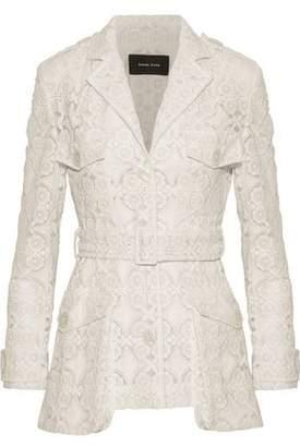 Simone Rocha Embroidered Cotton-Blend Organza Jacket