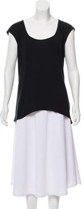 Helmut Lang Scoop Neck High-Low T-Shirt
