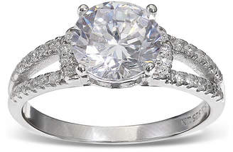 JCPenney SILVER ENCHANTMENT Silver Enchantment Cubic Zirconia Sterling Silver Split-Shank Ring