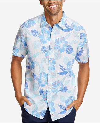 Nautica Men Hawaiian-Print Linen Shirt